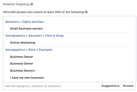 how to create a facebook audience for business and advertising detailed targeting