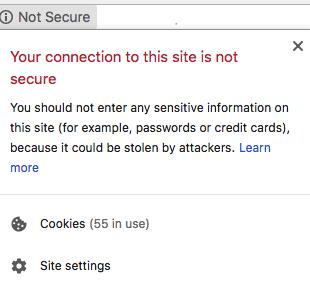SSL certificate website not secure