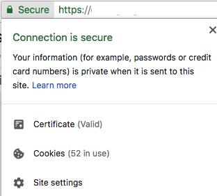 SSL certificate website secure