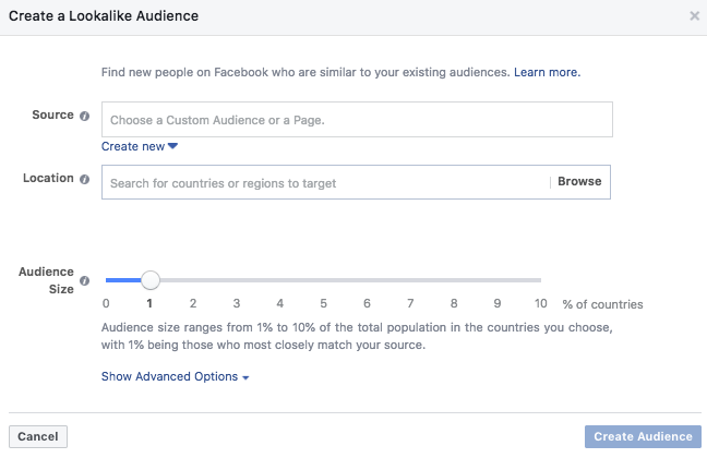 how to create a facebook audience for business and advertising lookalike audience