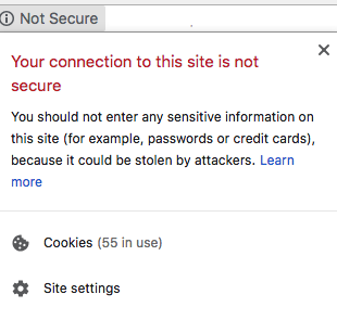 SSL certificate website not secure