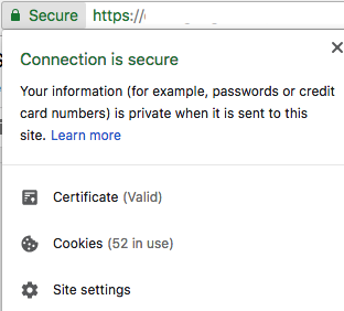 SSL certificate website secure