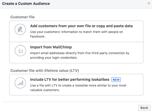 how to create a facebook audience for business and advertising options