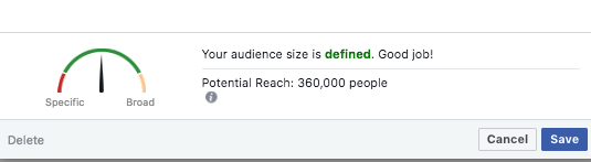 how to create a facebook audience for business and advertising size