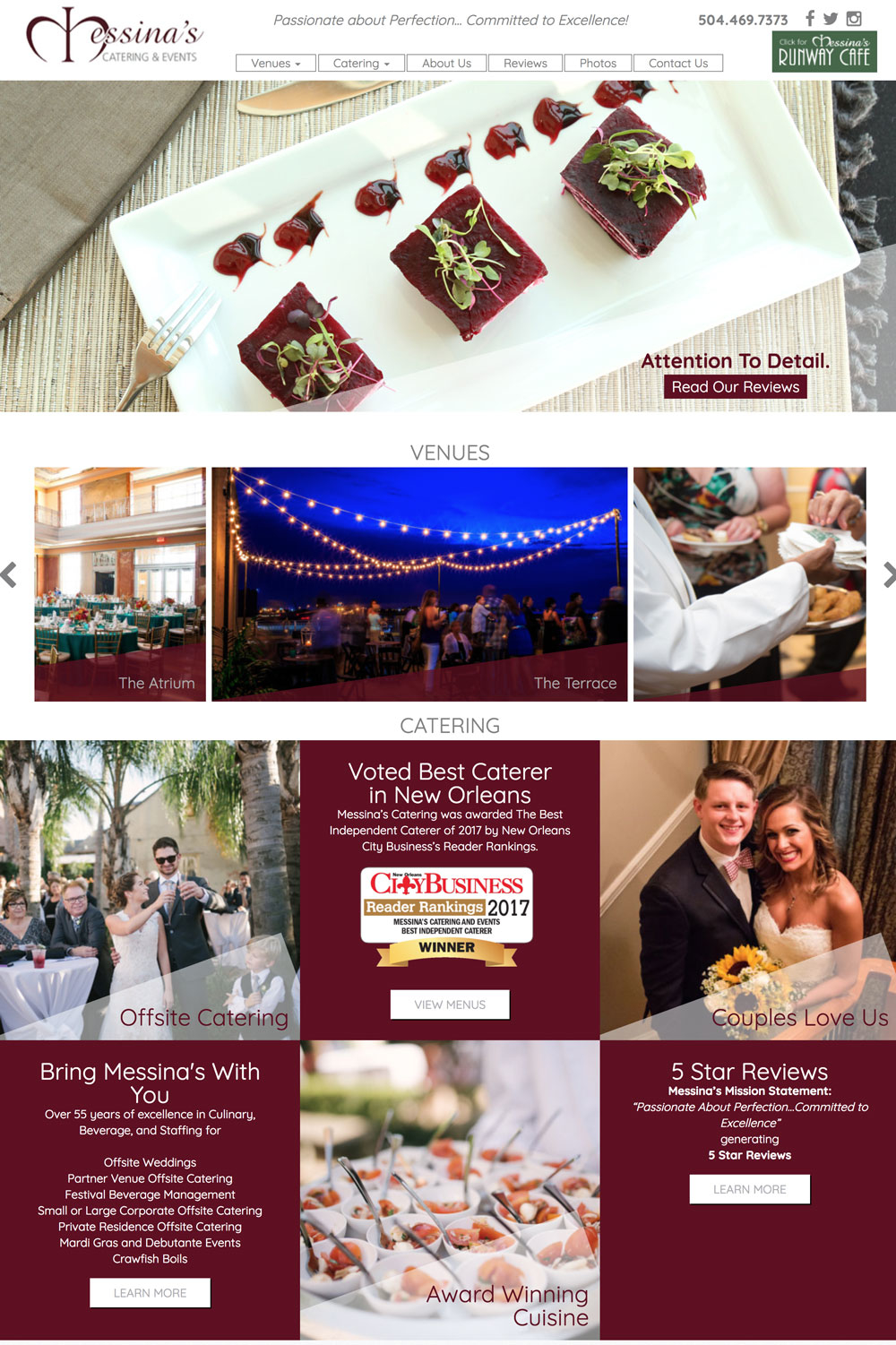 messinas new orleans website design